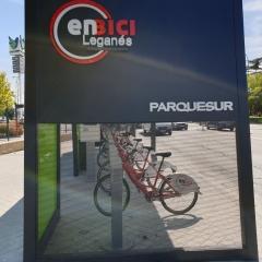 Nueva Marquesina para Bicis en el centro comercial ParqueSur